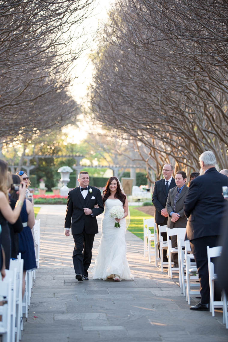 Crape Myrtle Allee Wedding Ceremony