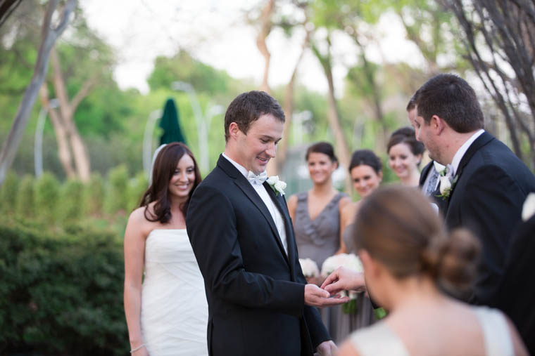 Dallas Arboretum Crape Myrtle Allee Wedding Ceremony